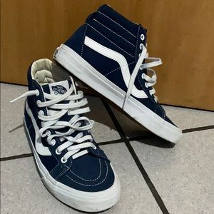 Vans blue and white size 7!!